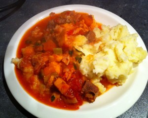 Lamb and Mash Wag Style